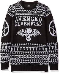 Amazon.com: FEA Avenged Sevenfold Mens Ugly Christmas Sweater, Black, X-Large: Clothing Black