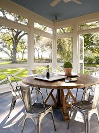 round table san francisco sun porch farmhouse with patio top outdoor dining tables ceiling fan chefs