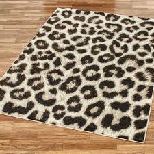 formal leopard area rug black animal print rugs 8x10