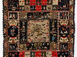 Major quilt exhibition offers Brisbane 200 years of British ... & Image: AnnWest / Patchwork with Garden of Eden 1820 / Wool / Collection:  Victoria and Albert Museum, London (© Victoria and Albert Museum, London) Adamdwight.com