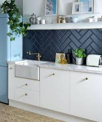 diamante blue tile and white kitchen tiles patterned wall