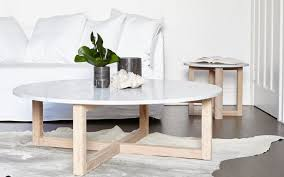 topic to nuevo aurora coffee table in brushed gold base and white m
