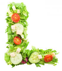 Healthy Letter L With Vegetables Photo | Free Download
