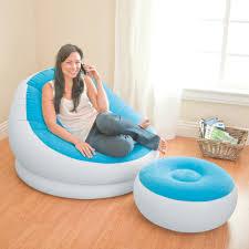 intex inflatable lounge chair. Intex Inflatable Colorful Cafe Chaise Lounge Chair + Ottoman, Blue | 68572E-B - Walmart.com O