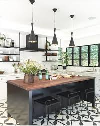 black and white floor tile kitchen. granada tile company\u0027s buniel cement in black and white for a kitchen floor kitchen o