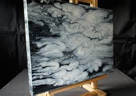 acrylmalerei demo fluid acrylic painting black white clouds abstract art by brigitte könig you
