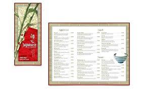 Take Out Menu Template Take Out Menu Template Word Restaurant Brochure Publisher