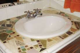 mosaic bath countertop