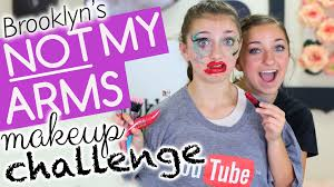 brooklyn s not my arms makeup challenge