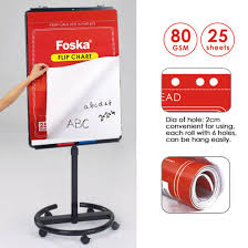 Foska New Item 80gsm Flip Chart Paper Pad