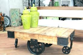 cart style coffee table wooden pallet factory cart style coffee