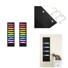 Compono Wall Storage Pocket Charts For 10 Pocket 2 Pack