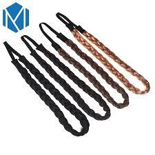 <b>M MISM 1PC</b> Hairpiece Fine Wig Plait Elastic Hair Bands Hair ...