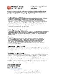 Cnc Operator Resume Sample Cnc Machine Operator Resume Sample Elegant Cnc Operator Resume 10