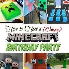 How To Host A Cheap Minecraft Birthday Party With Printables