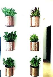 wall mount plant hanger wall plant hanger indoor wall plant hanger indoor wall planters indoor ice cream tin can wall wall mounted plant pot holder
