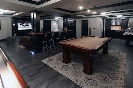 basement pool table. Simple Basement Dark Hardwood Flooring Basement Design With Pool Table And Movie Room