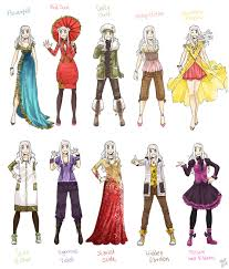 anime girl clothes designs. Plain Girl Various Female Clothes 8 By Meago  In Anime Girl Clothes Designs I