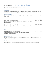 Free Printable Cv Template Word 150