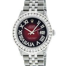 rolex auction diamond datejust men s rolex watches seized rolex stainless steel 3 50 ctw diamond datejust men s watch auction