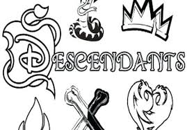 Descendants Coloring Pages World Page Disney Mal Ryanbreauxco