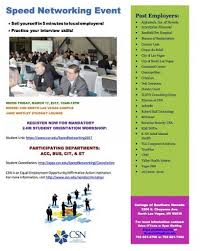 Speed Networking Event Csn