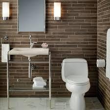 gorgeous 2 x 16 dark brown marble bathroom wall tile