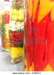 Decorative Pepper Bottles Decorative glass bottles filled with vinegar peppers spices and 61
