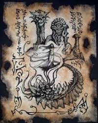 dark art cthulhu mythos authentic pages from occult book arcane knowledge crafted by artist