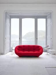iconic modern furniture. ploum sofa in brilliant red promises to bring alive your living room from ligne iconic modern furniture