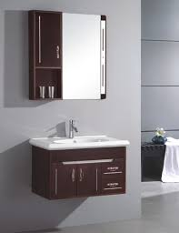small bathroom vanity cabinet. Single Sink Floating Bathroom Vanity Under Mirrored Shelf Small Cabinet U