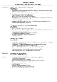 Consultant Engineer Resume Samples Velvet Jobs