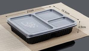 Acheter Livraison Gratuite Jetable 3 Compartiments Alimentaire Bento ...