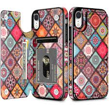 HianDier <b>Wallet Case</b> for iPhone XR, Slim Protective Case with ...