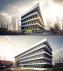 office exterior design. office building in gliwice architecture design exterior a