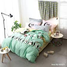 shark bedding twin panda penguin dolphin shark bedding set cotton fabric kids duvet cover sheet sets shark bedding