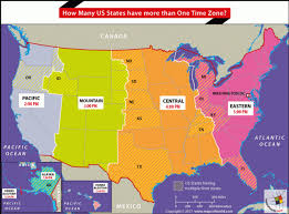 Time Map How Many Us States Have More Than One Time Zone Answers