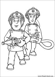 Brandweerman Sam Kleurplaat Firemen Theme Fireman Sam Fireman