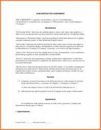 Subcontractor Agreement Format Subcontractor Agreement Template Construction Lobo Black