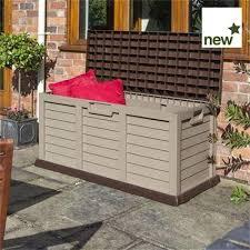 rowlinson plastic storage box bench