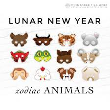 The ox is a highly esteemed animal in chinese culture because of the important role it plays in agriculture. Lunar New Year Year Of The Ox Masks Chinese Zodiac 12 Etsy