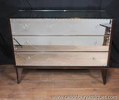 art deco mirrored furniture. photo of antique mirrored art deco chest drawers commode glass 1930s furniture