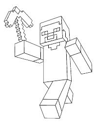 Minecraft Steve Creeper Enderman Free Printable Coloring Pages