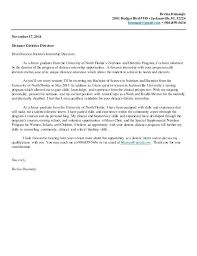 Good Cover Letter Examples For Internships Nutrition And Dietetics