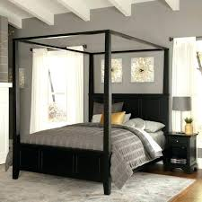 Black King Size Canopy Bed Black Canopy Bed Curtains Large Size Of ...