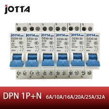 JOTTA DPN 1P+N Mini Circuit breaker MCB 10A 16A 20A 25A 32A ...