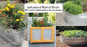 galvanized raised beds big and small