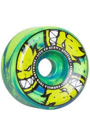 spitfire formula 4. spitfire formula four afterburners swirl conical 54mm wheels (green blue) 4 pack