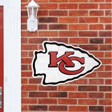 kansas city chiefs logo nfl outdoor wall decal fathead