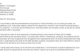Cover Letter For Secretary Position At School New Secretary Cover